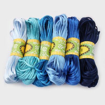 20 Meters 2mm Rattail Satin Silk Cord Nylon Macrame Beading kumihimo String 5