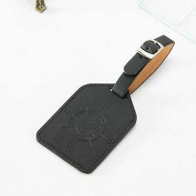 Leather Luggage Tag Travel Suitcase Bag ID Tag Address Label Baggage Card Holder 9