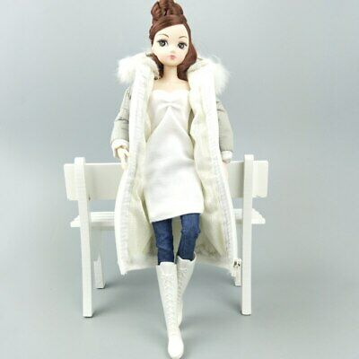 Long Coat Cotton Dress for 11.5in. Doll Clothes Parka For 1/6 BJD Doll Jacket 8