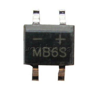 50Pcs MB6S 0.5A 600V Miniature Mini SMD Bridge Rectifier 8