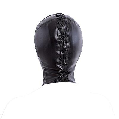 PU Leather Slave Restraint Head Mask Fetish Hood Zipper BDSM Sexy Adult Bondage 10