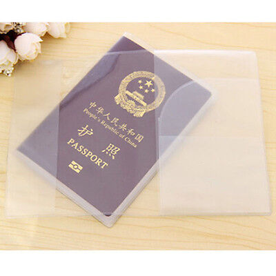 Clear Transparent Travel Business Passport Cover Holder Card Protector 4