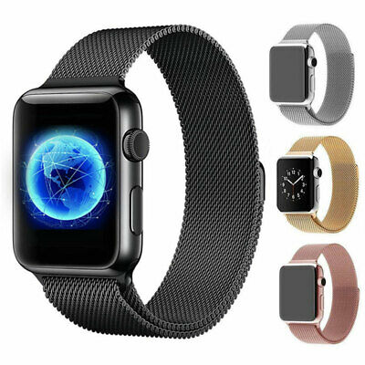 For Apple Watch Series 4 40mm 44mm Magnetic Milanese Loop Band Stainless Steel 2