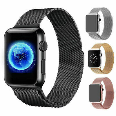 For Apple Watch Series 5 4 40mm 44mm Magnetic Milanese Loop Band Stainless Steel 2