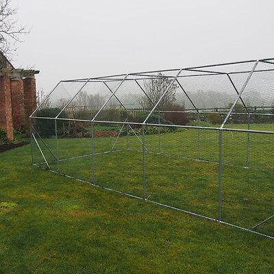 Chicken Run 6M X 3M Walk In Coop For Poultry Dog Rabbit Hen Cage Pen Metal Door