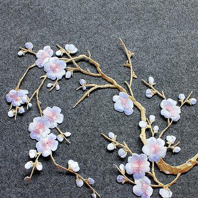 Broderie de fleurs de fleur de prunier brodée sur l'artisanat motif applique 5