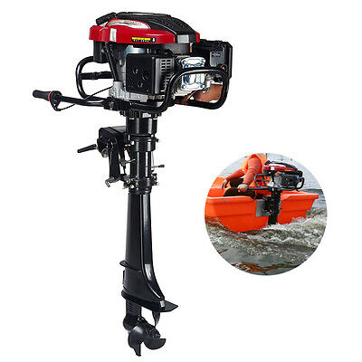 7 HP 4-Stroke Outboard Motor Transom Mount Boat Engine Air Cooling 196CC 6