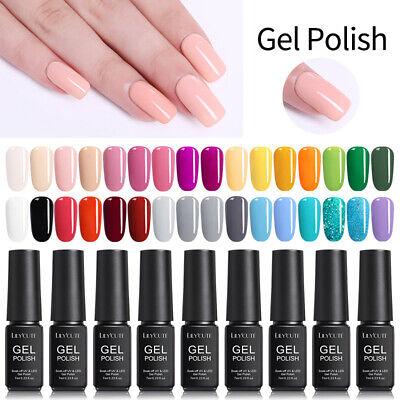 146Colors LILYCUTE Gel Nail Art Polish Soak Off UV LED Gel Nail Varnish Tool 7ml 7