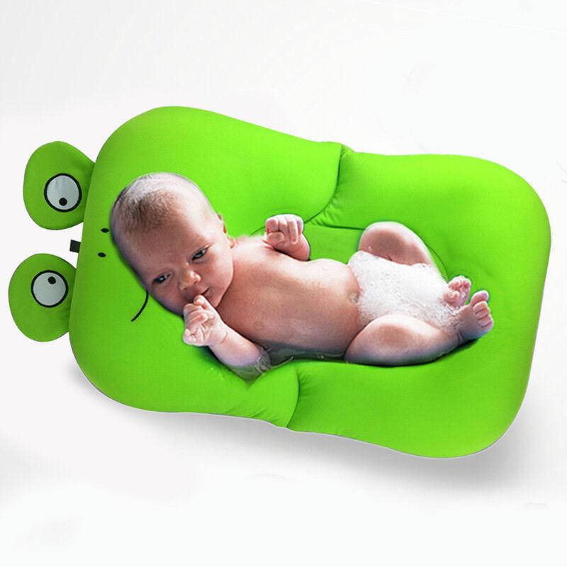 BABY BATH Tub Pillow Pad Lounger Air Cushion Floating Soft Seat ...