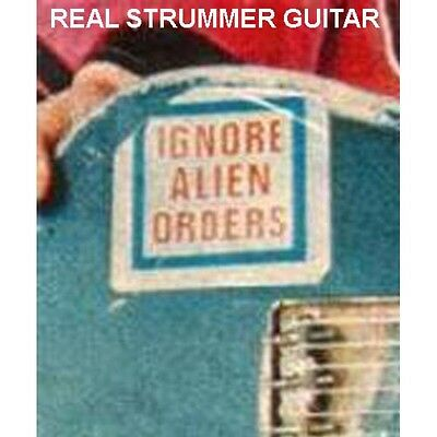 Strummer Clash Ignore Alien Orders & Trash City Decals Stickers 2