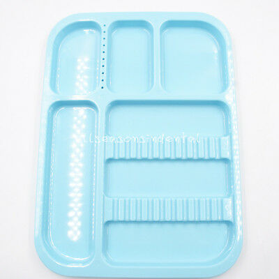 Dental Sterilized Autoclavable 135° Divided Tray Plastic Separate 245x340x2mm 3