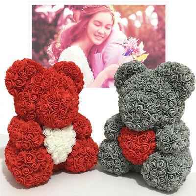 Rose Flower Bear Toys Teddy Birthday Valentine Wedding Anniversary Gift UK 4