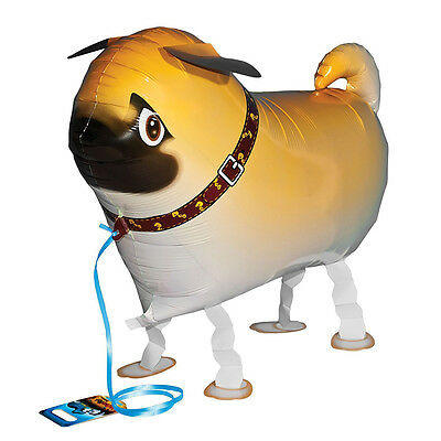 Children Walking Foil Pet Pug Dog Balloon Helium Fun  Party Birthday Decors YJ 9