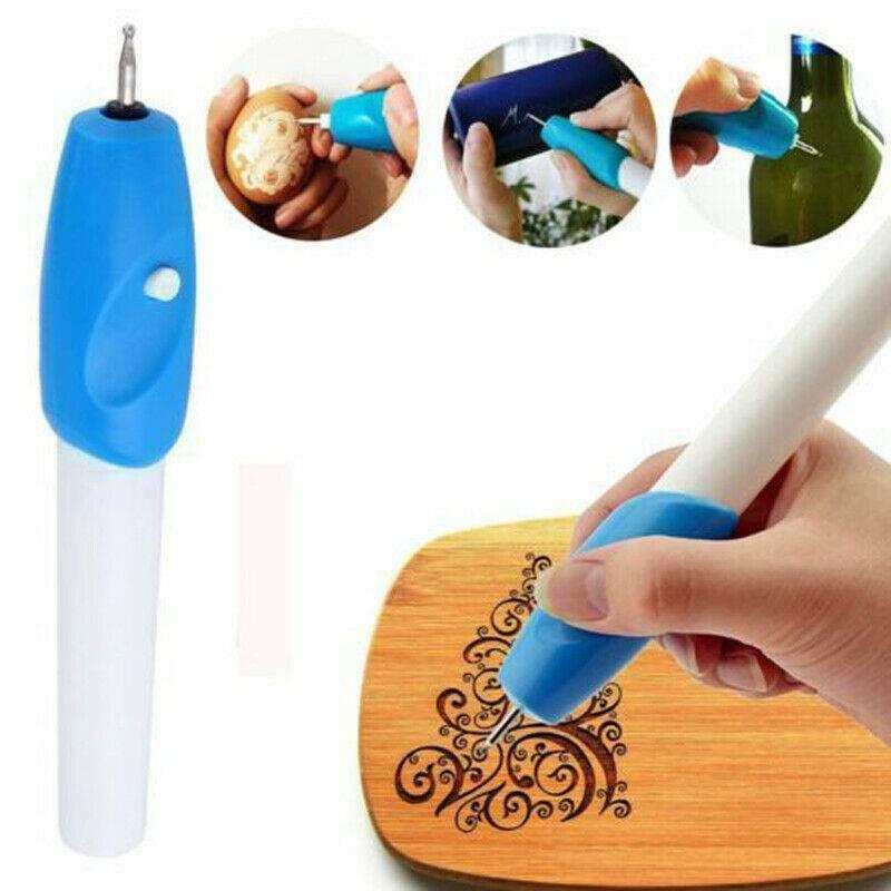 Engraving Electric Carving Craft Pen Handheld Kit For Etching Glass Wood Metal 2