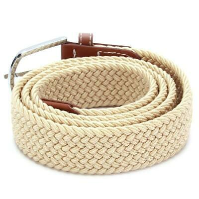 Belt Men Braided Stretch Belt No Holes Elastic Fabric Woven Belts BL3 4