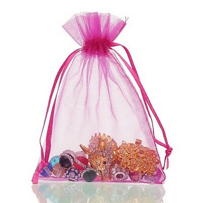 6 Of 7 100pc Organza Gift Bags Jewelry Candy Bag Wedding Favors Mesh Pouches