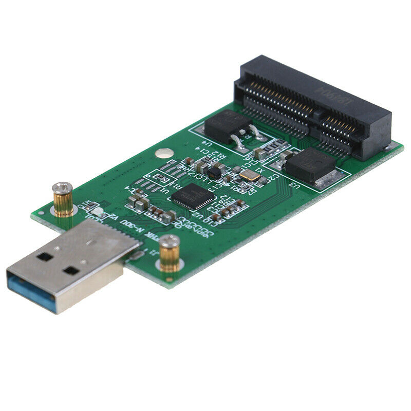 1Pc Mini USB 3.0 to PCIE mSATA External SSD PCBA Conveter Adapter  MER 6