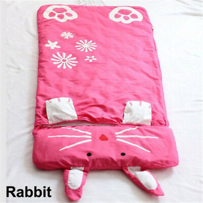 Cartoon Kinder Schlafsäcke Anti-Kicking warme Baumwolle Schlafsack Camping DE