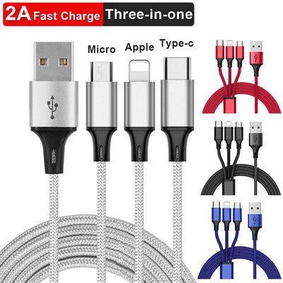 Universal 3 in1 USB Multi Fast Ladekabel Kabel Für Samsung Galaxy S8 S9 S8 S9+ 3