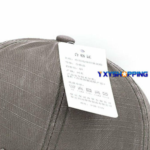 Unisex Retro Men Plain Classic Baseball Caps Peaked Stonewash Casual Sports Hats 5