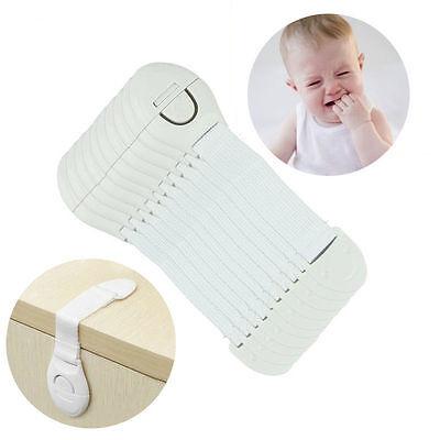 10 PCS Safety Child Infant Baby Kids Drawer Door Cabinet Cupboard Toddler Locks 4