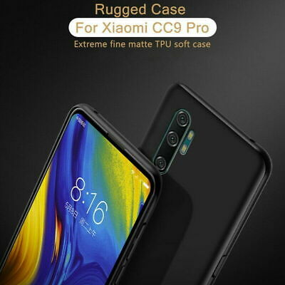 COVER CUSTODIA PER XIAOMI MI NOTE 10 NERO OPACO TPU MORBIDA ULTRASLIM