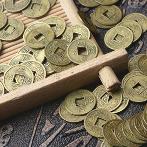 100Pcs Feng Shui Coins Ancient Chinese I Ching Coins For Health Wealth Charm El 3