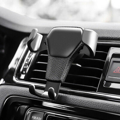 Universal Adjustable Phone Holder Car Air Vent Gravity Design Mount Cradle Stand 8