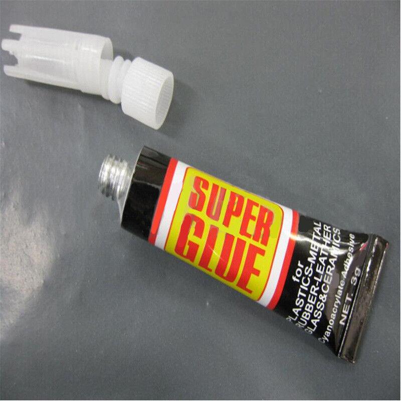 6/12pcs Super Glue Colle Rapide Adhésif Extra-Forte Cyanoacrylate Plastique Cuir 5