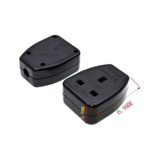 REWIREABLE UK Singapore Rewireable Power Plug 3 Pin Wall  AC100~250V 13A  Fused 5