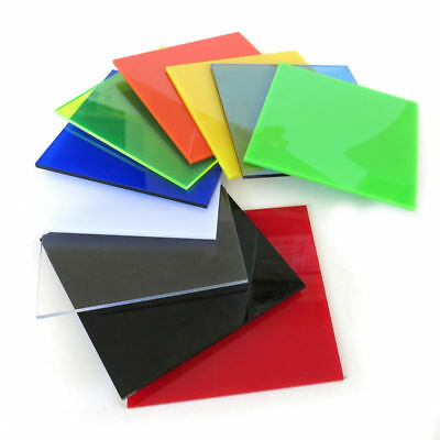 Color Acrylic Sheet Plate Plastic Plexiglass Panel 8x8/10x20/15x15/20x20/30x40cm 6