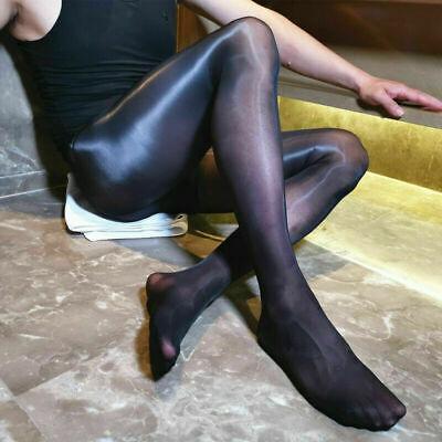 220lbs Plus Size Men Shiny Pantyhose Super Elastic Glossy Stockings Sheer Tights