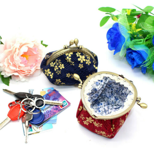 Collectable Handmade Japanese Style Fans Clasp Coin Purse Bag Change Wallets G 8