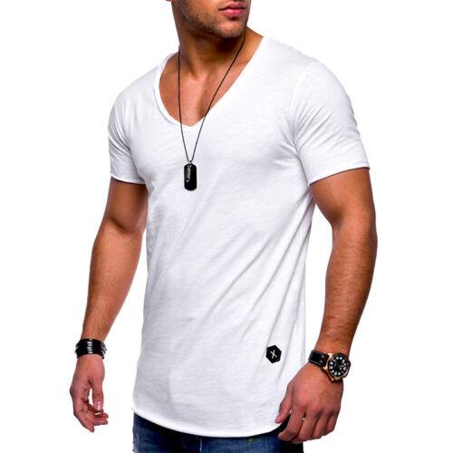 db747aa80a1f4 Herren Kurzarm Shirt Bodybuilding Muskelshirt Slim Fit T-Shirt Oberteil  Fitness 4 4 von 9 ...