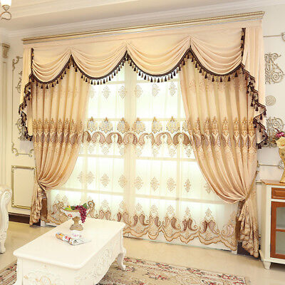 EUROPEAN GOLDEN ROYAL Luxury Curtains for Bedroom Window ...
