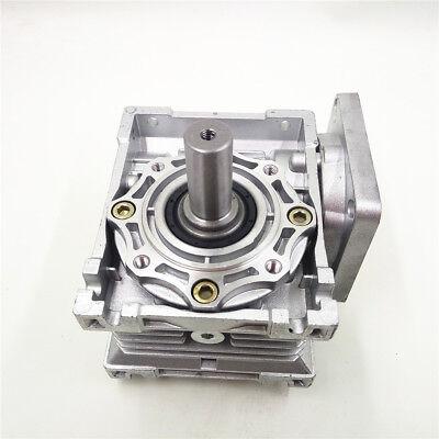 Worm Gear Reducer RV040 NEMA24/34 Speed Gearbox 10 15 20 25 30 40 50 60 80 100:1 10
