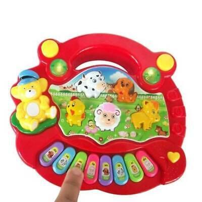 Musical Educational Animal Farm Piano Developmental Music Toys for Baby Kids UK 3