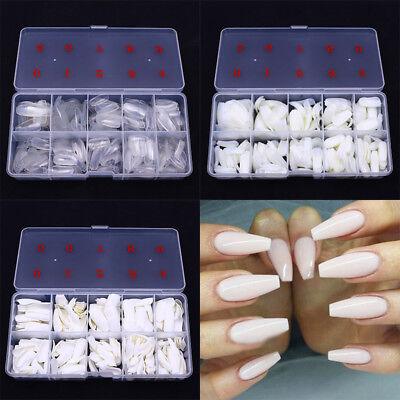 French Nails Artificial Fake Nails DIY Nail Tips  Nail Art Salon Long 3
