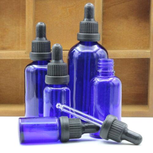 5ml-50ML Blau Leer Glas Flasche Pipettenflasche Tropfer Braunglas Ätherisch J7Y5 4
