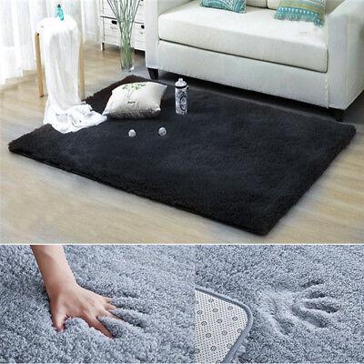 Anti-Skid Shaggy Area Fluffy Rug Bedroom Living Dining Room Carpet Floor Mat Rug 2