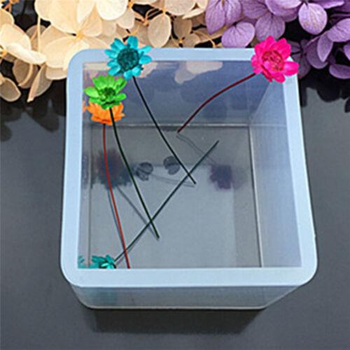 Silicone Pendentif Moule Bijoux Fabrication Cube Résine Casting Outild'Artisa FE 6