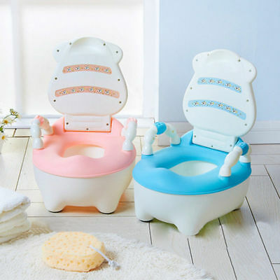 Training Potty Trainer Safety Kids Baby Toddler Toilet Cute Cartoon Seat Chair 9