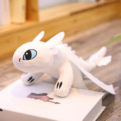 """10""""/14"""" UK How to Train Your Dragon 3 Toothless Night Fury Light Fury Plush Doll 5"""