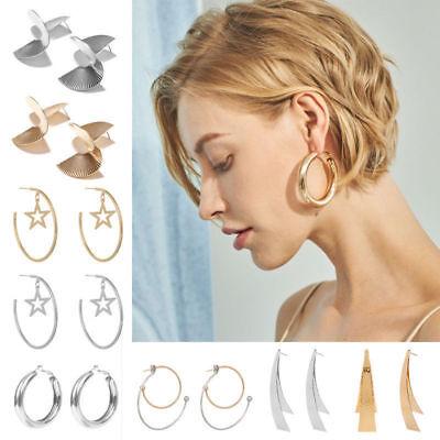 Boho Women Simple Geometric Circle Ear Stud Drop Dangle Earrings Fashion Designs 10
