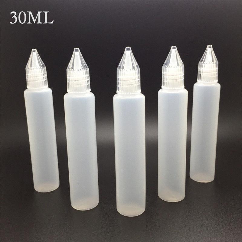 Practical Needle Tip Empty Dropper Bottles Liquid Plastic 15ml 30ml 5