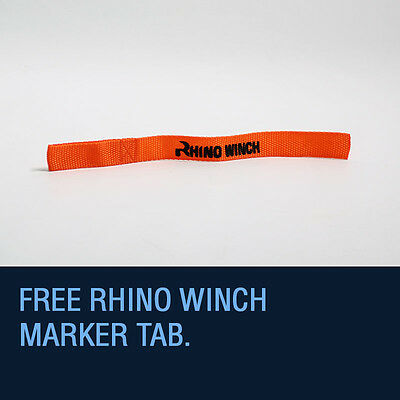 Synthetic Winch Rope, Hawse - 11.5mm x 100ft, Recovery Accessory RHINO WINCH 7