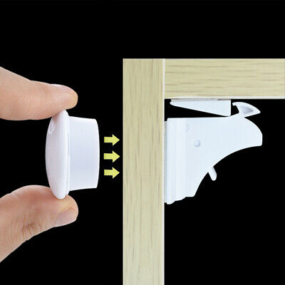 5/10pcs Baby Safety Magnetic Cabinet Locks Invisible Child Proof Cupboard Drawer 8