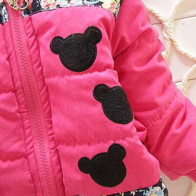 bd7ed9234 KIDS BABY GIRLS Disney Minnie Mouse Hooded Jacket Coat Zip Winter ...