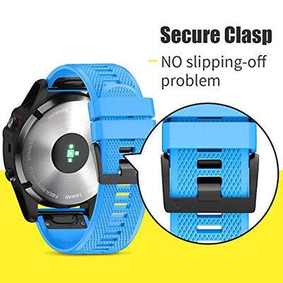Silicone Quick Install Band Easy Fit Wrist Strap For Garmin Fenix 3 5 5X Plus 11