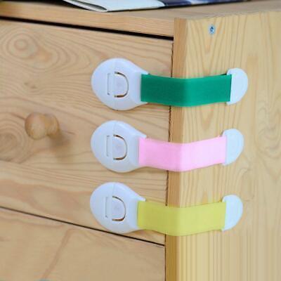 Baby Kids Safety Lock Box Drawer Cupboard Cabinet Fridge Door Child Proof 7Color 10